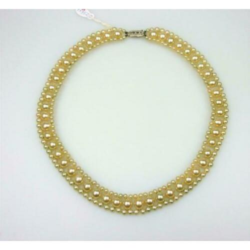 Opruiming Vintage parel collier / Z5677a