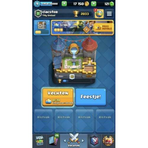 Clash royale account 2k trofeeën