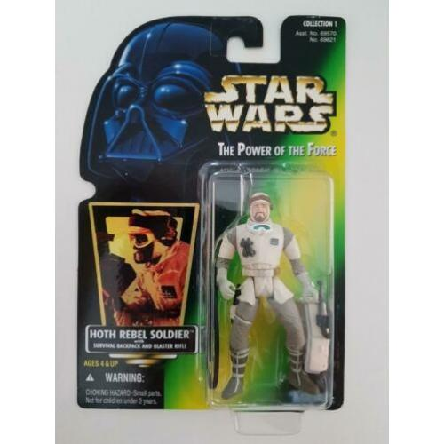 Star Wars POTF Green Holo Hoth Rebel Soldier with Backpack